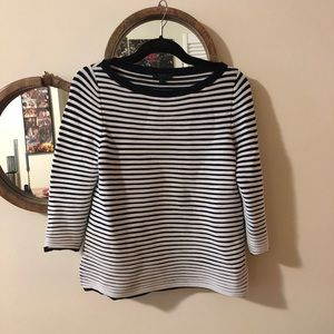 Cos Stretchy Black and White 3/4 sleeves top